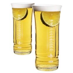 Χειροποίητο Ποτήρι από μπουκάλι μπύρας Desperados 330ml συσκευασία 2 τμχ