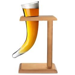 Γυάλινο Ποτήρι Viking Με Ξύλινο Stand 480ml