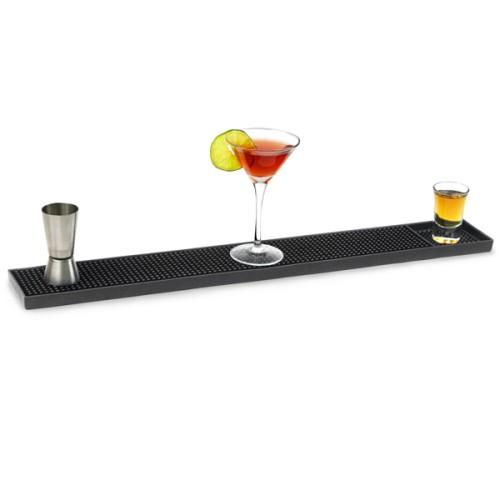 Service Bar Mat Πλαστικός μαύρος δίσκος περισυλλογής διαρροών 60εκ