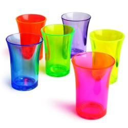 Σφηνοπότηρα Φωσφοριζέ Econ Neon πολυστερικά 35 ml