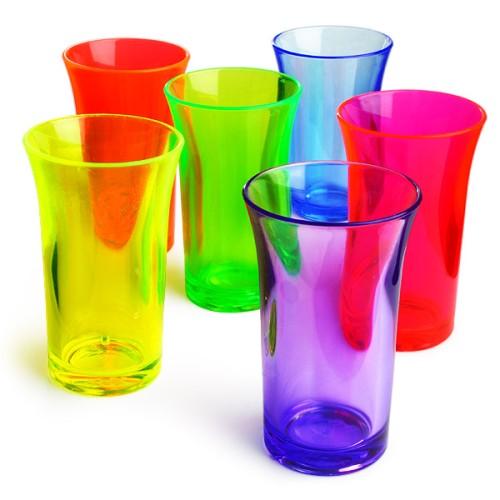 Σφηνοπότηρα Φωσφοριζέ Econ Neon πολυστερικά 50 ml