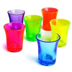 Σφηνοπότηρα Φωσφοριζέ  Econ Neon πολυστερικά 25 ml