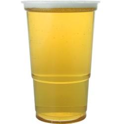 Αναλώσιμα πλαστικά ποτήρια διάφανα μιας χρήσης από πολυστυρένιο 568ml -πακέτο με 50