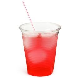 Αναλώσιμα διάφανα πλαστικά ποτήρια 200ml -πακέτο με 100
