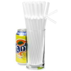 Καλαμάκια πλαστικά σπαστά διάφανα 20εκ -πακέτο με 250