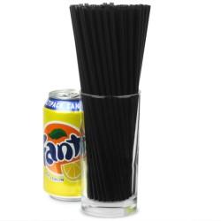 Καλαμάκια πλαστικά ίσια μαύρα Collins 20εκ -πακέτο με 1000