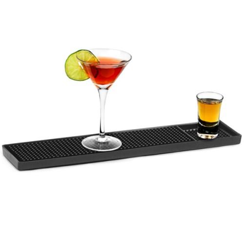 Service Bar Mat Πλαστικός μαύρος δίσκος περισυλλογής διαρροών 59 x 8 x 1 εκ