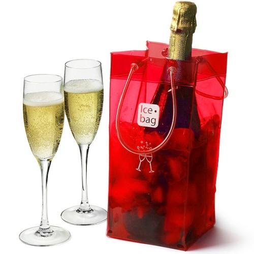 Παγοδοχείο Ice Bag πλαστικό premium κόκκινο