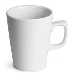 Κούπες Latte Πορσελάνινες λευκές Genware 340ml -σετ 6άδα