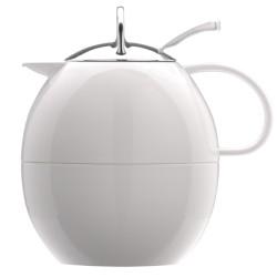 Πολυτελής Κανάτα Θερμός Elia λευκή πρωτότυπη σε σχήμα αυγού 1ltr