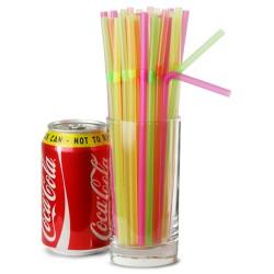 Καλαμάκια σπαστά πολύχρωμα Neon (συσκευασία 250τμχ)