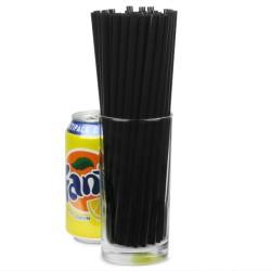 Καλαμάκια Σπαστά Μαύρα 20εκ Πλαστικά (συσκευασία 500τμχ)