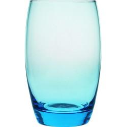 Ποτήρια Γυάλινα Ψηλά Hiball Μπλέ 350ml
