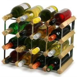 Κάβα 12 Μπουκαλιών Κρασιού Παραδοσιακή Ανοιχτή  βελανιδιά