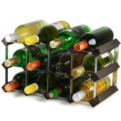 Κάβα 12 Μπουκαλιών Κρασιού Παραδοσιακή  Μαύρη Τέφρα