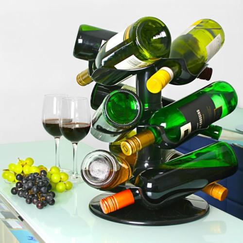 Περιστρεφόμενη κάβα κρασιού 9 φιαλών