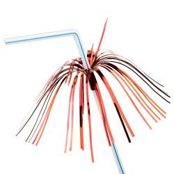 Καλαμάκι σπαστά πλαστικά πολύχρωμα μαζί με φοινικόδεντρο 20εκ -πακέτο με 24 ή 96