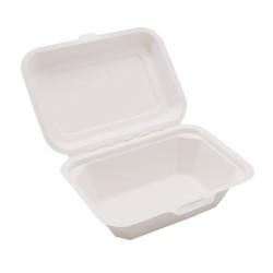 Δοχείο Τροφίμων Με Καπάκι Από Ζαχαροκάλαμο Βιοδιασπώμενο (συσκευασία 100 τμχ)