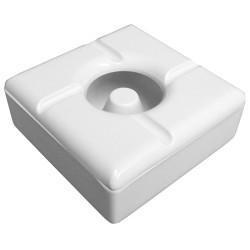 Τασάκι Αντιανεμικό Μελαμίνης Άσπρο (πακέτο με 4)