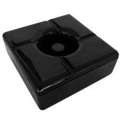 Τασάκι Αντιανεμικό Μελαμίνης Μαύρο.