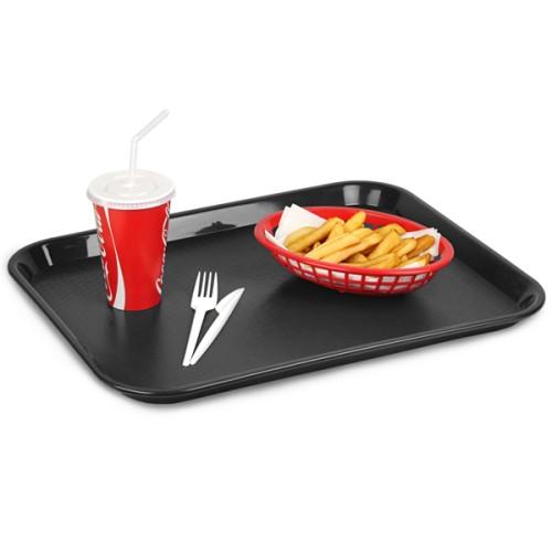 Δίσκος Fast Food Παραλληλόγραμμος Μαύρος 45x35 εκ. ( Δίσκοι Σερβιρίσματος )