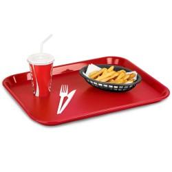 Δίσκος Fast Food Παραλληλόγραμμος Κόκκινος 45x35 εκ.