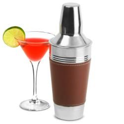 Επαγγελματικό Shaker από Ανοξείδωτο Ατσάλι με Δερμάτινο κάλυμμα 900ml
