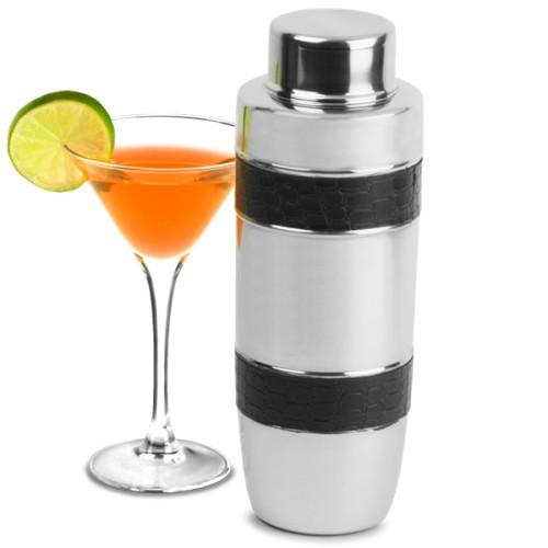 Επαγγελματικό Shaker από Ανοξείδωτο Ατσάλι με Κομμάτια Δερματίνης 1ltr ( Shakers )