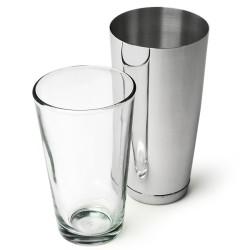 Επαγγελματικό Shaker Boston από Ανοξείδωτο Ατσάλι με Ποτήρι 800ml