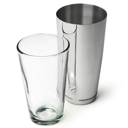 Επαγγελματικό Shaker Boston από Ανοξείδωτο Ατσάλι με Ποτήρι 800ml ( Shakers )