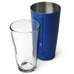 Επαγγελματικό Shaker Boston Μπλε από Ανοξείδωτο Ατσάλι με Ποτήρι 800ml