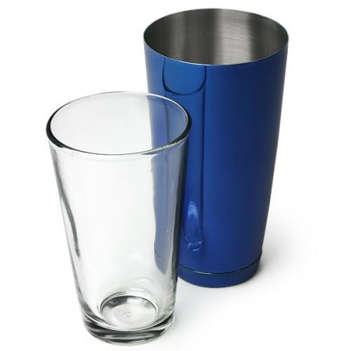Επαγγελματικό Shaker Boston Μπλε από Ανοξείδωτο Ατσάλι με Ποτήρι 800ml ( Shakers )
