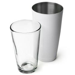Επαγγελματικό Shaker Boston Άσπρο από Ανοξείδωτο Ατσάλι με Ποτήρι 800ml