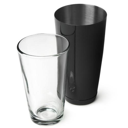 Επαγγελματικό Shaker Boston Μαύρο από Ανοξείδωτο Ατσάλι με Ποτήρι 800ml ( Shakers )