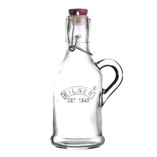 Κυλινδρικό Μπουκάλι Kilner Clip Top με Χερούλι 200ml