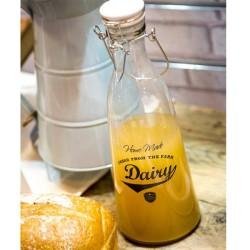 Παραδοσιακό Μπουκάλι Γάλακτος Home Made 1ltr με Καπάκι Clip Top