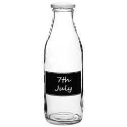 Παραδοσιακό Μπουκάλι Γάλακτος 500ml με Ετικέτα Κιμωλίας