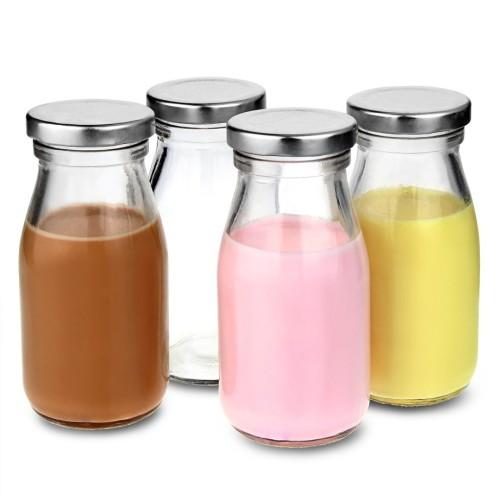 Παραδοσιακό Μπουκάλι Γάλακτος 200ml με καπάκι ( Πρωτότυπα Ποτήρια )
