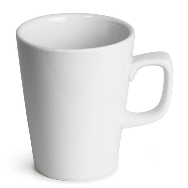b1226c4479b8 Κούπες Latte Πορσελάνινες λευκές Genware 340ml -σετ 6άδα